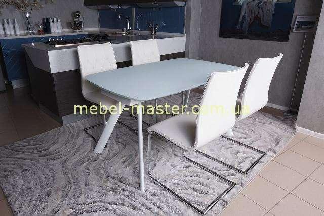 Недорогой белый прямоугольный стол Честер в стиле модерн, Николас