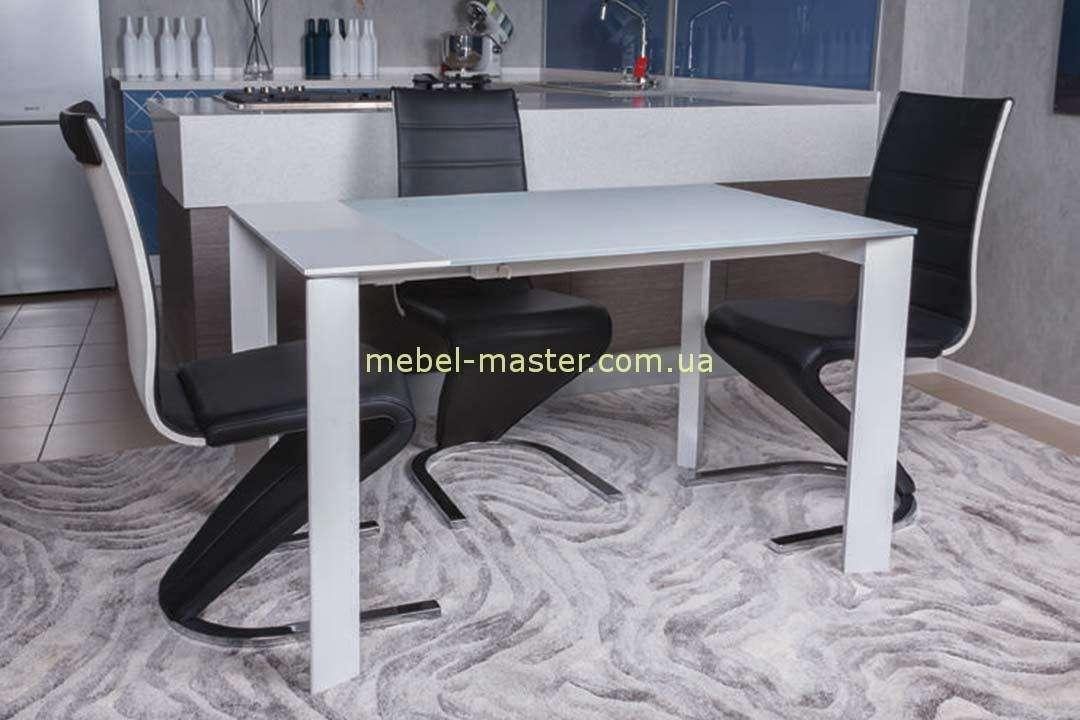 Прямой белый стол в стиле модерн Бристоль, Николас