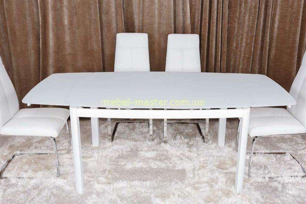 Прямой белый обеденный стол LEICESTER, Николас