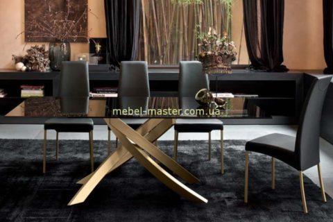 Стильный стол из дымчастого стекла Линкольн, Николас