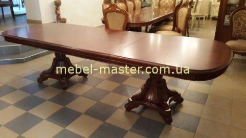Красивый большой обеденный стол в цвете орех Р 22, Классик 11