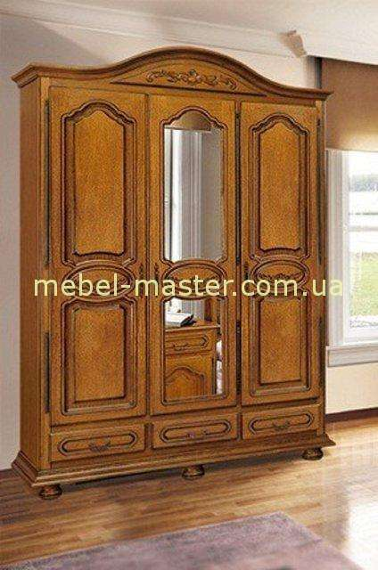Трехдверный шкаф для одежды в спальню Валентина, Симекс
