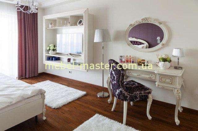 Резной туалетный столик с патиной для спальни Флора, Симекс