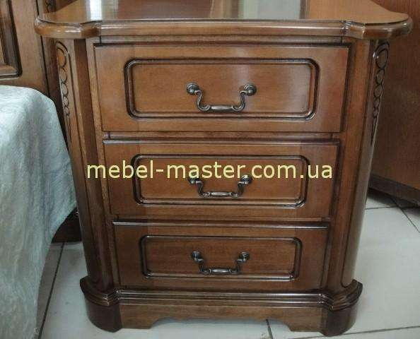 Ореховая прикроватная тумбочка от комплекта мебели Рафаэль, Симекс