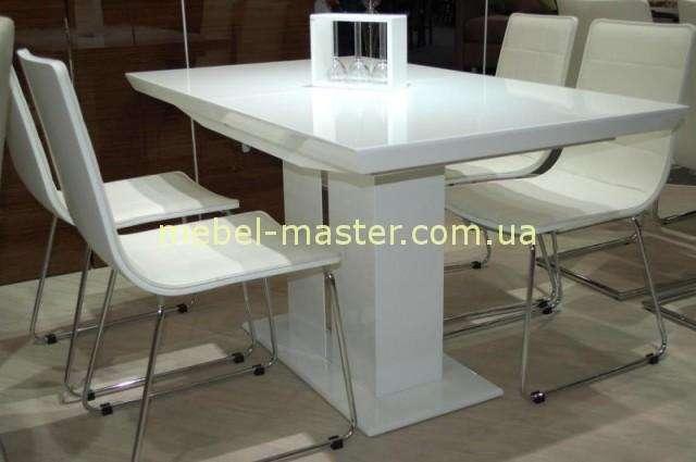 Белый прямоугольный стол в стиле модерн Амстердам, Николас