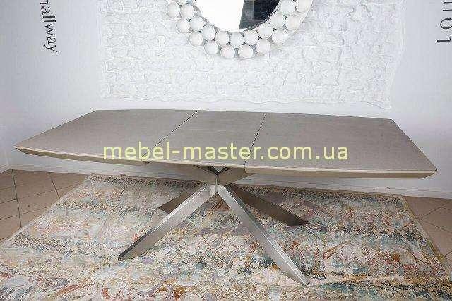 Прямой раскладной стол Портленд в цвете мокко, Николас