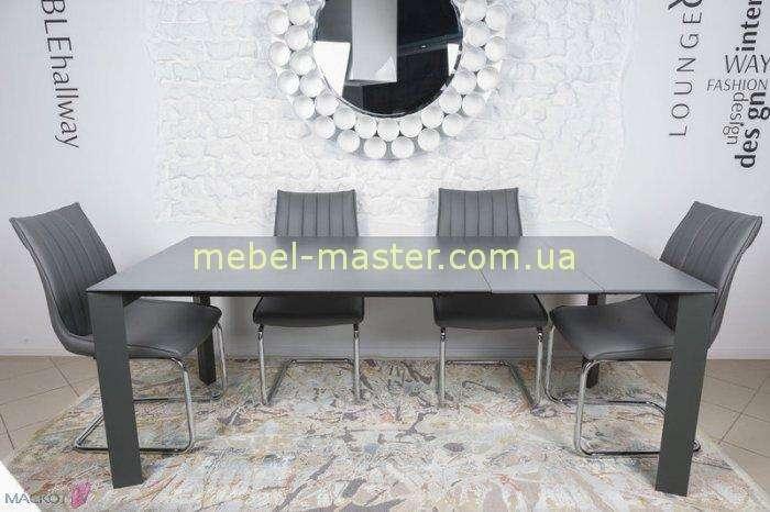 Большой раскладной стол Бристоль. Цвет графит.