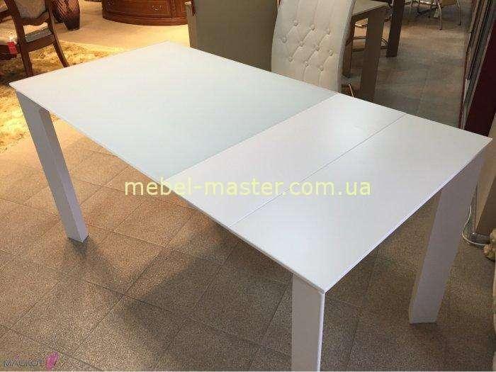 Белый обеденный прямой стол Бристоль.