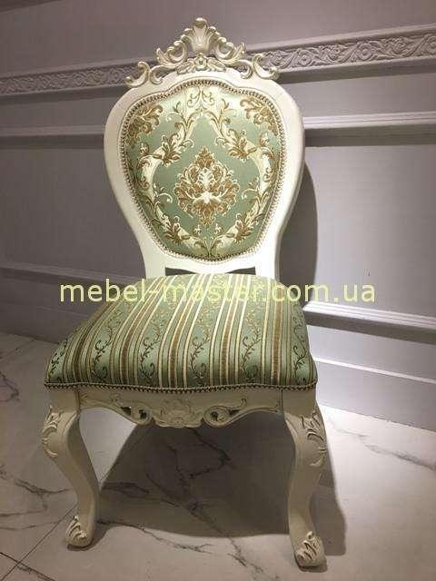 Недорогой классический резной стул с короной 8069