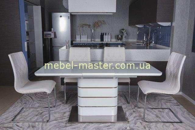 Недорогой белый прямой стол RICHMOND , Николас