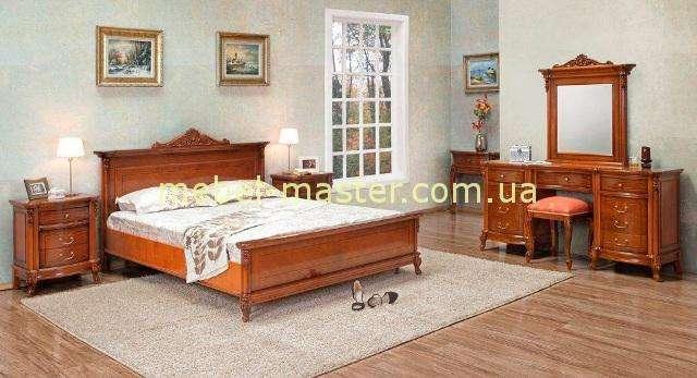 Кровать с резной короной для спальни Фирензе, Симекс