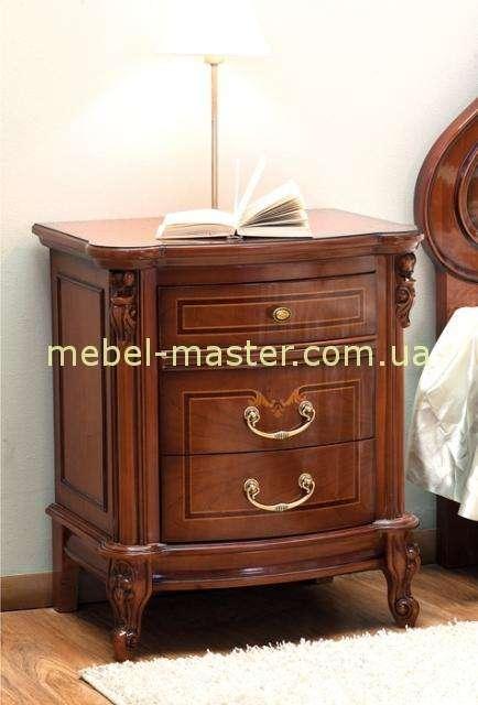 Тумба прикроватная на 3 ящика для спальни Фирензе, Румыния
