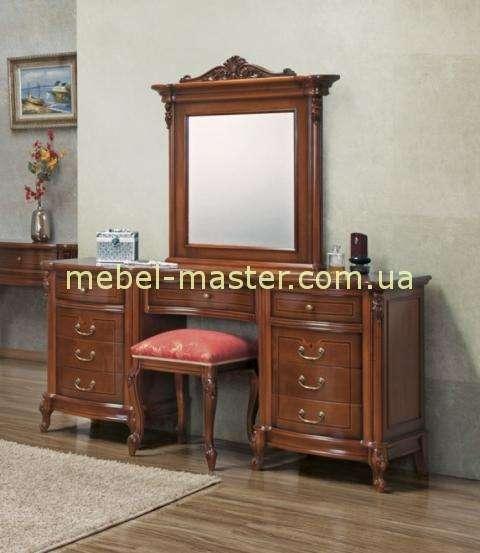 Туалетный стол с зеркалом для спальни Фирензе. Цвет орех.