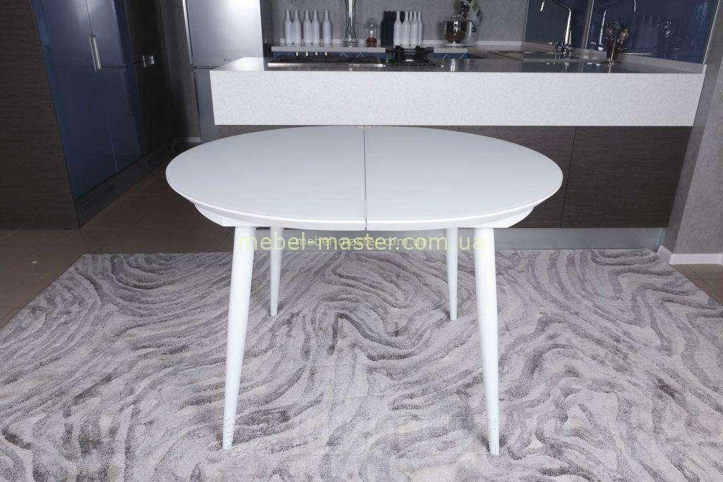 Белый раздвижной стол Гринвич
