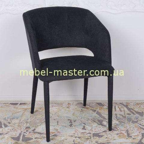 Недорогой черный мягкий стул-кресло Андора, Николас