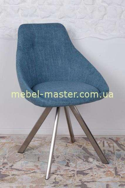Синий мягкий стул Толедо
