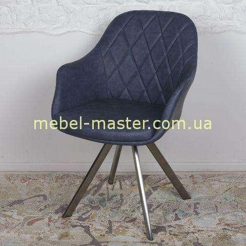 Темно-синие кресло из экокожи Альмерия
