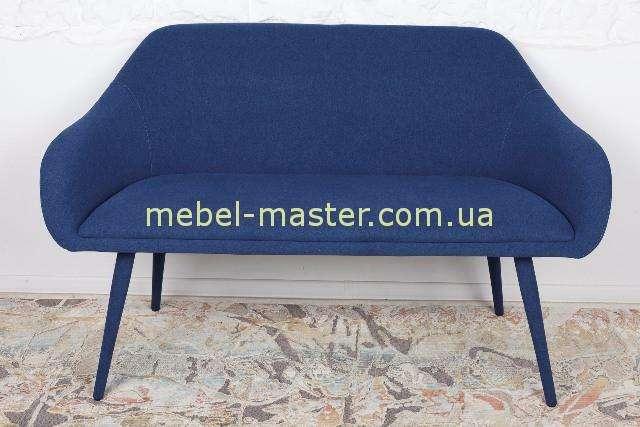 Недорогая стильная синяя банкетка-диван MAIORICA, Николас