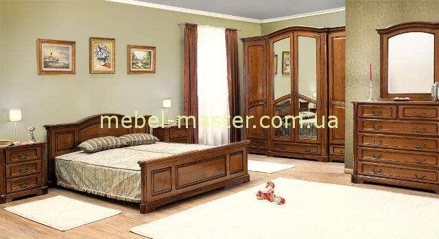Румынская деревянная спальня Рафаэль в цвете орех, Ситмекс
