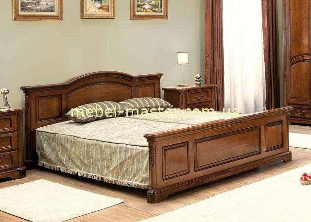 Деревянная кровать из массива бука для спальни Рафаэль, Симекс