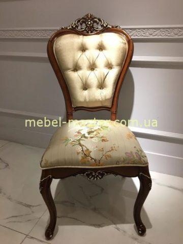 Красивый коричневый резной стул С01, Даминг