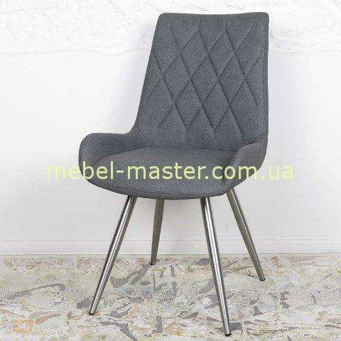 Модный серый мягкий стул Аризона, Николас