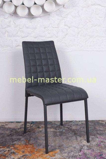 Серый стул из экокожи Дюсселдорф, Николас