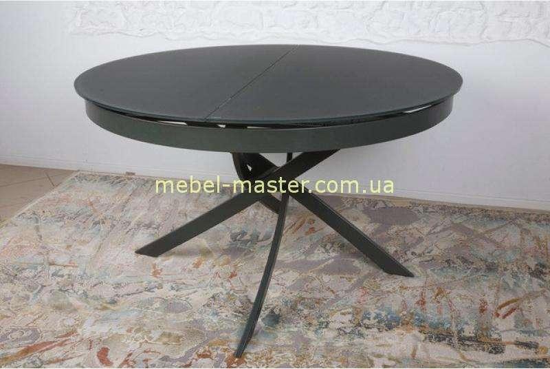 Черный круглый раскладной стол Кембридж, Николас