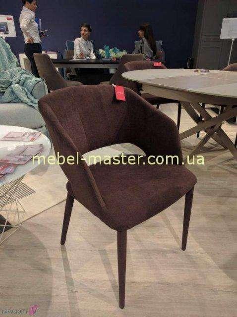Коричневый мягкий стул-кресло ANDORRA, Николас