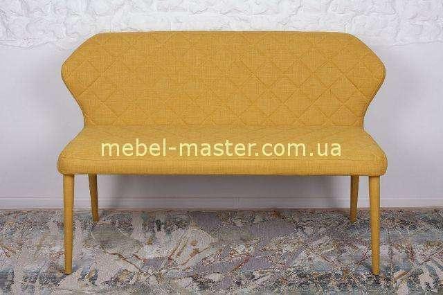 Желтый стеганый диван  VALENCIA  от фабрики Николас, узор ромб.