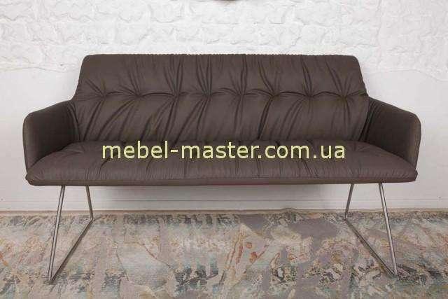 Модный диван из экокожи LEON в цвете шоколад, Николас