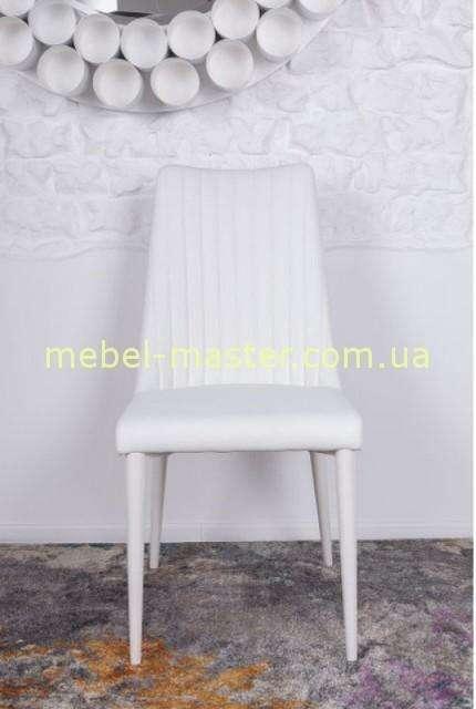 Белый мягкий стул с прямой спинкой Ганновер, Николас