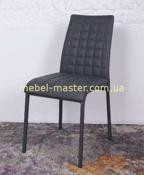 Серый стул с отделкой в клетку Дюсселдорф, Николас