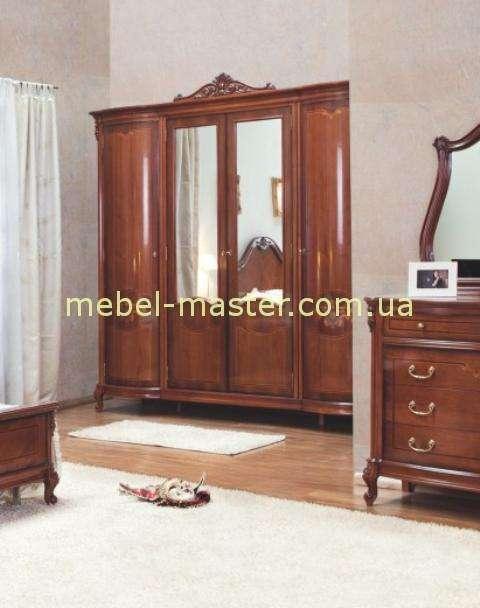 Четырехдверный шкаф для спальни Фирензе, Симекс