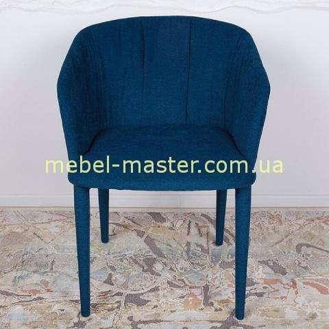 Мягкий синий стул-кресло Вера, Николас