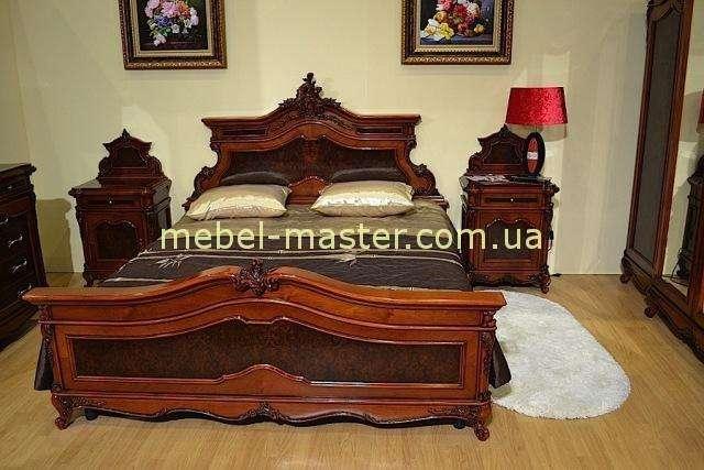 Резная кровать для спальни Поэзис, Симекс