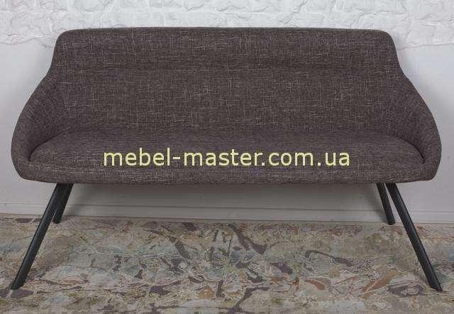 Коричневый мягкий диванчик из текстиля на металлических ножках TOLEDO, Николас