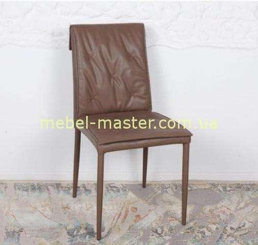 Коричневый стул Наварра из экокожи, Николас