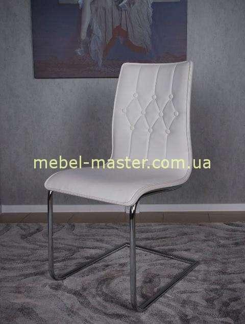 Недорогой стул из экокожы в белом Цвете Волтон, Николас