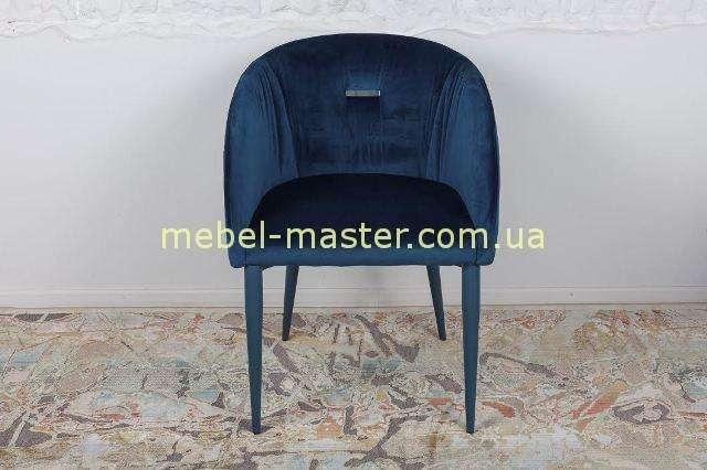 Синий мягкий стул - кресло ELBE из ткани, Николас