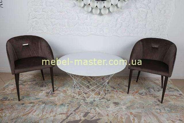 Коричневое мягкое кресло ELBE от Николас
