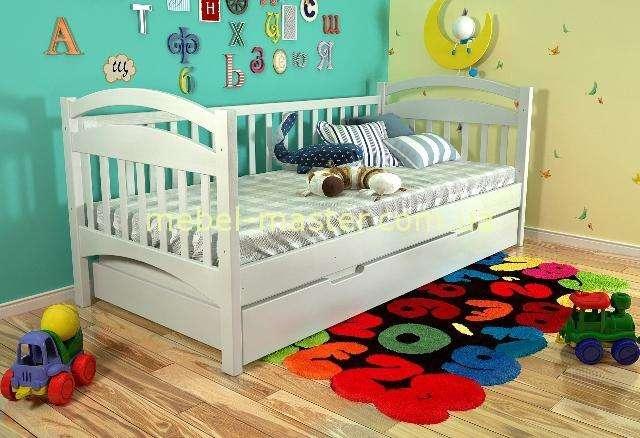Белая деревянная кровать Алиса, Арбор