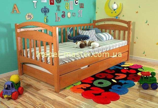 Деткая деревянная кроватка Алиса для мальчиков и девочек, Украина