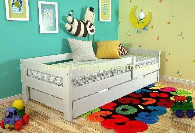 Белая кровать с защитой Альф