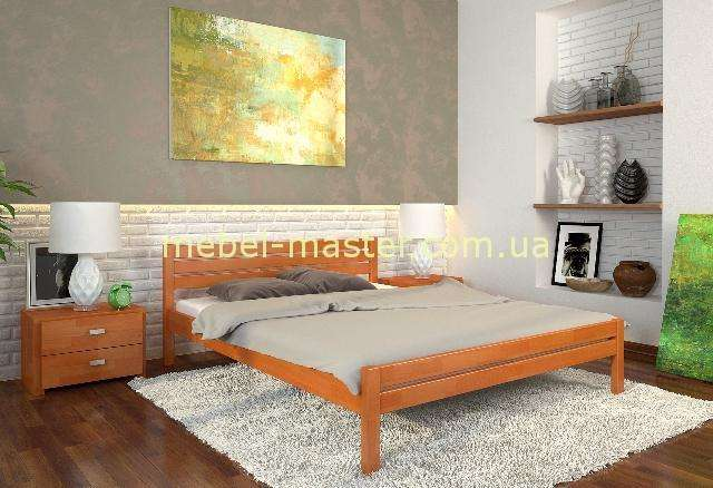 Деревянная кровать в цвете ольха Роял