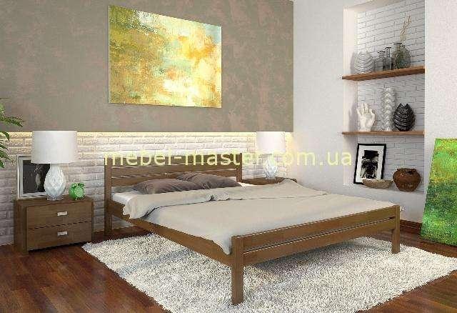 Кровать Роял в цвете орех из натурального дерева