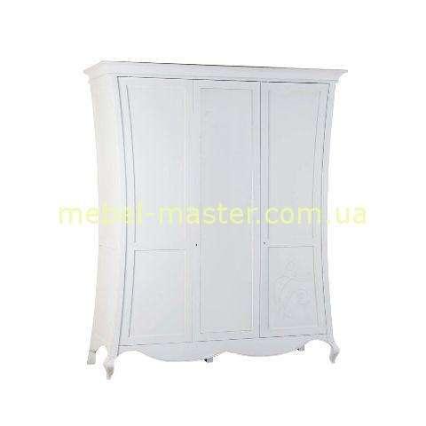 Белый деревянный шкаф для спальни Капри, Румыния