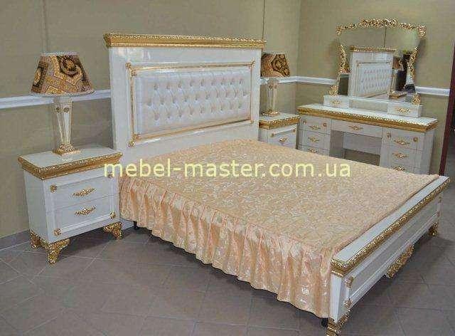 Недорогая белая кровать 1800 с мягким прямым мягким изголовьем в спальню Эрмитаж, Джосс