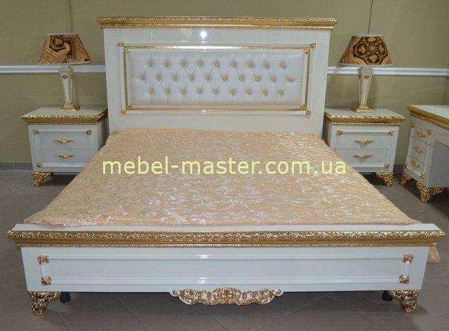 Белая глянцевая мебель с золотом Эрмитаж, Джосс