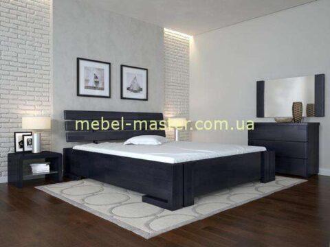 Деревянная кровать с подъемным механизмом в цвете венге Домино